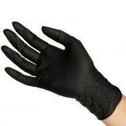 Black Latex Gloves 20 pcs