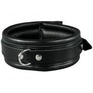 SToys Black Leather Collar