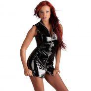 Black Level Short Lacquer Dress