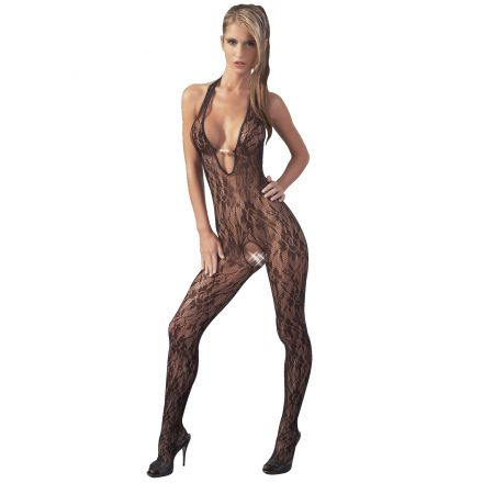 NO: XQSE Lace Halterneck Catsuit with Beads