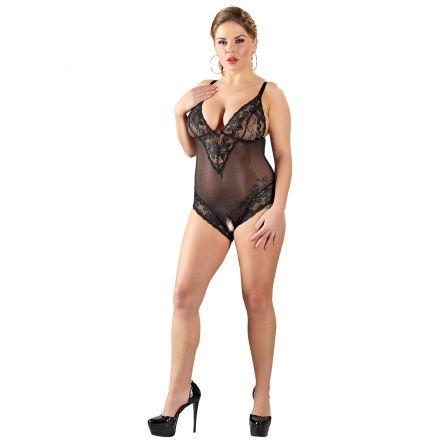 Cottelli Crotchless Lace Bodystocking Plus Size
