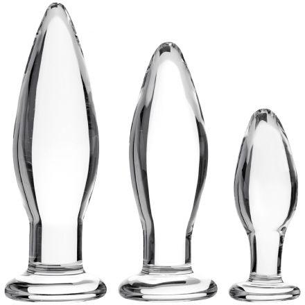 Sinful BumBum Glass Butt Plug Set