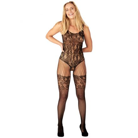 Nortie Astrid Crotchless Lace Catsuit