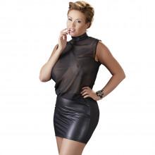 Cottelli Mesh Mini Kjole Plus Size Front