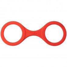 Quickie Cuffs Silicone Handcuffs Medium Red  1