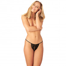 Nortie Saga Crotchless Lace G-String  1