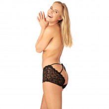 Nortie Ingeborg Crotchless Hipster with Cage Back Product picture on model 1