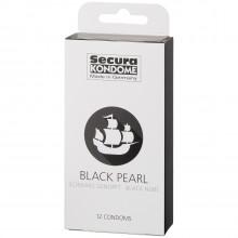 Secura Black Pearl Kondomer 12 stk Pack 90