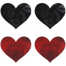 Peekaboos Nipple Stickers Hjerte Rød 2 pak  1