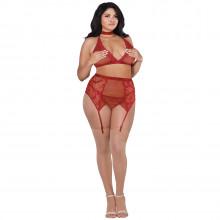 Dreamgirl Plus Size 4-piece Lace Set Product model 1