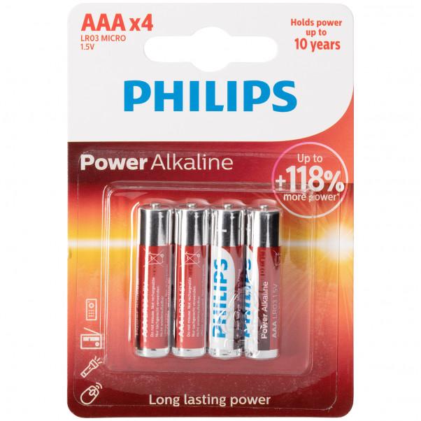 Philips LR03 AAA Alkaline Batteries Pack of 4