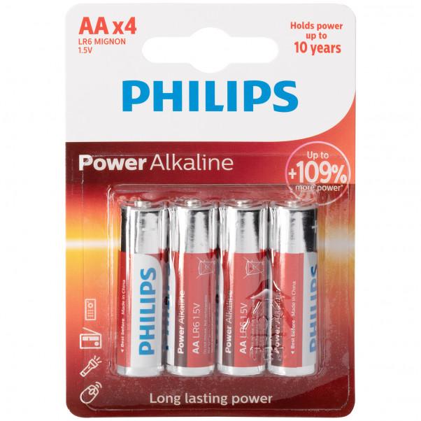 Philips LR06 AA Alkaline Batteries Pack of 4