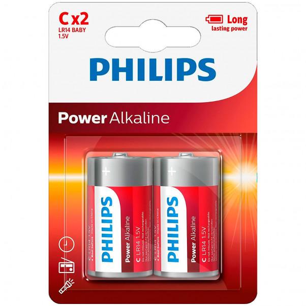 Philips LR14 C Alkaline Batteries 2 pcs