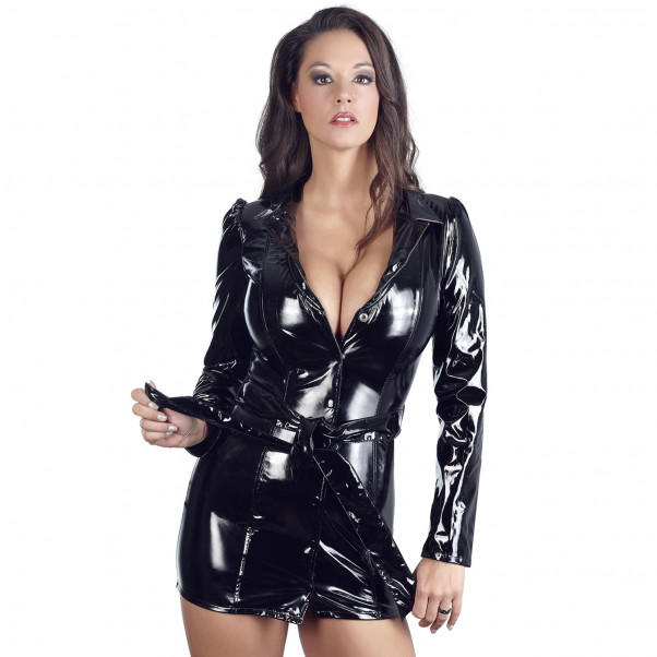 Black Level Coat Dress in Lacquer  1