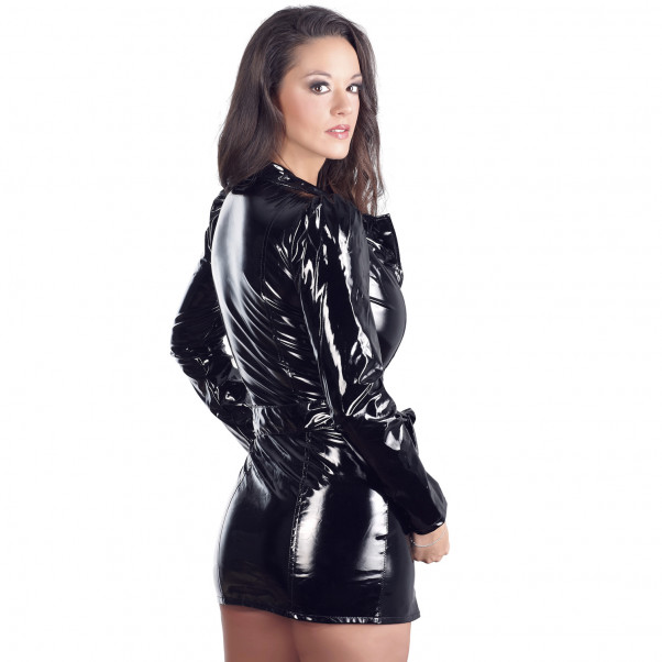 Black Level Coat Dress in Lacquer  2