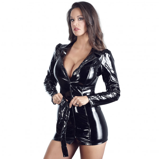 Black Level Coat Dress in Lacquer  3