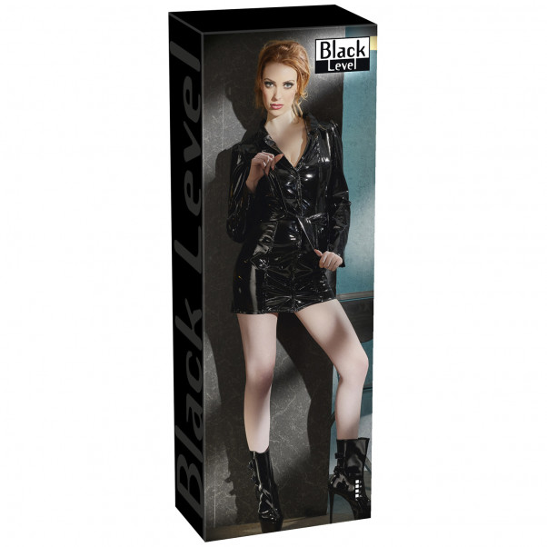 Black Level Coat Dress in Lacquer  4