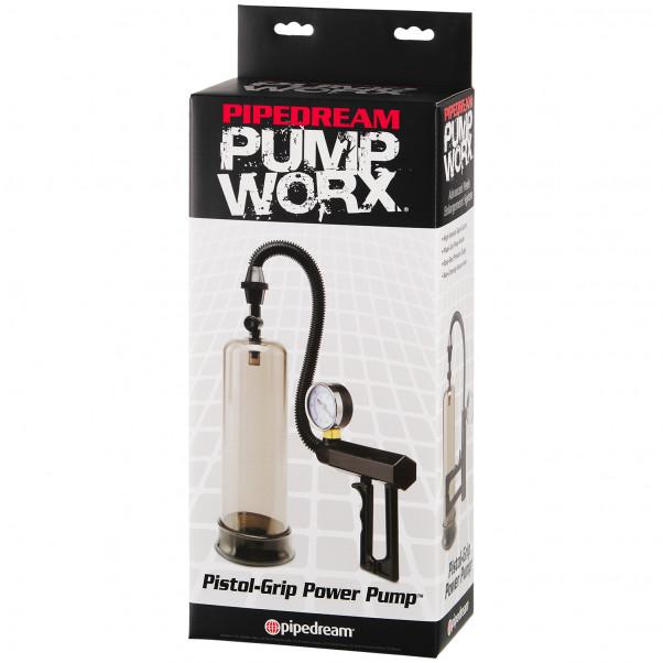 Pump Worx Pistol Grip Penis Pump with Pressure Gauge