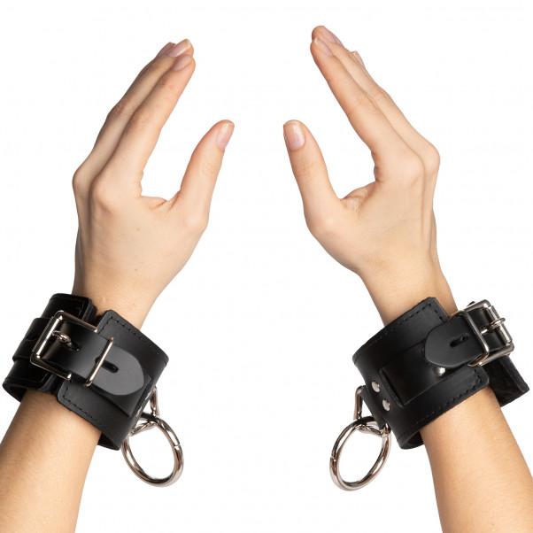 Spartacus Locking Leather Wrist Cuffs