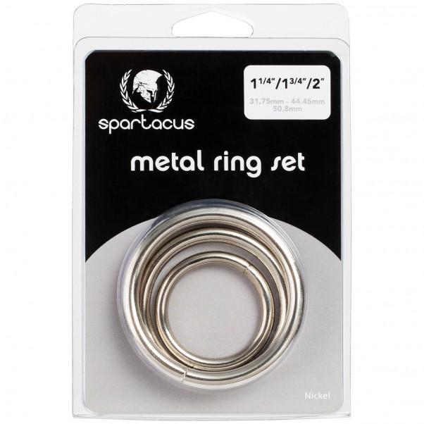 Spartacus Metal Penisringe 3 stk Pack 90